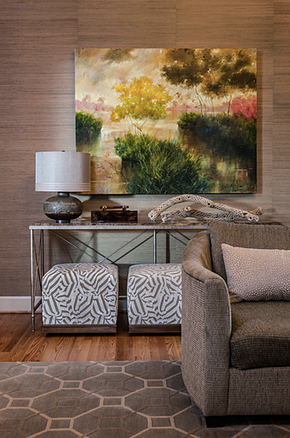 detail of Andrea Houck living room design