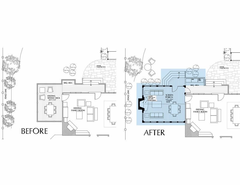 Before and After Floorplans