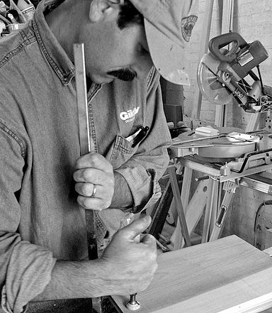 Gilday Renovations carpenter on the job