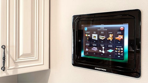 smart home control panel in kitchen