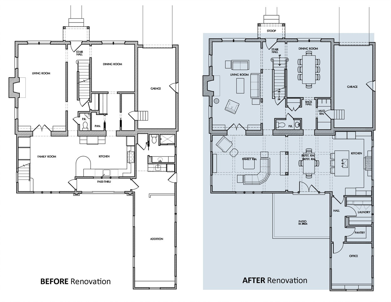 Before and After Floor Plan