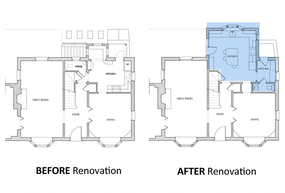 Before and After Floor Plans