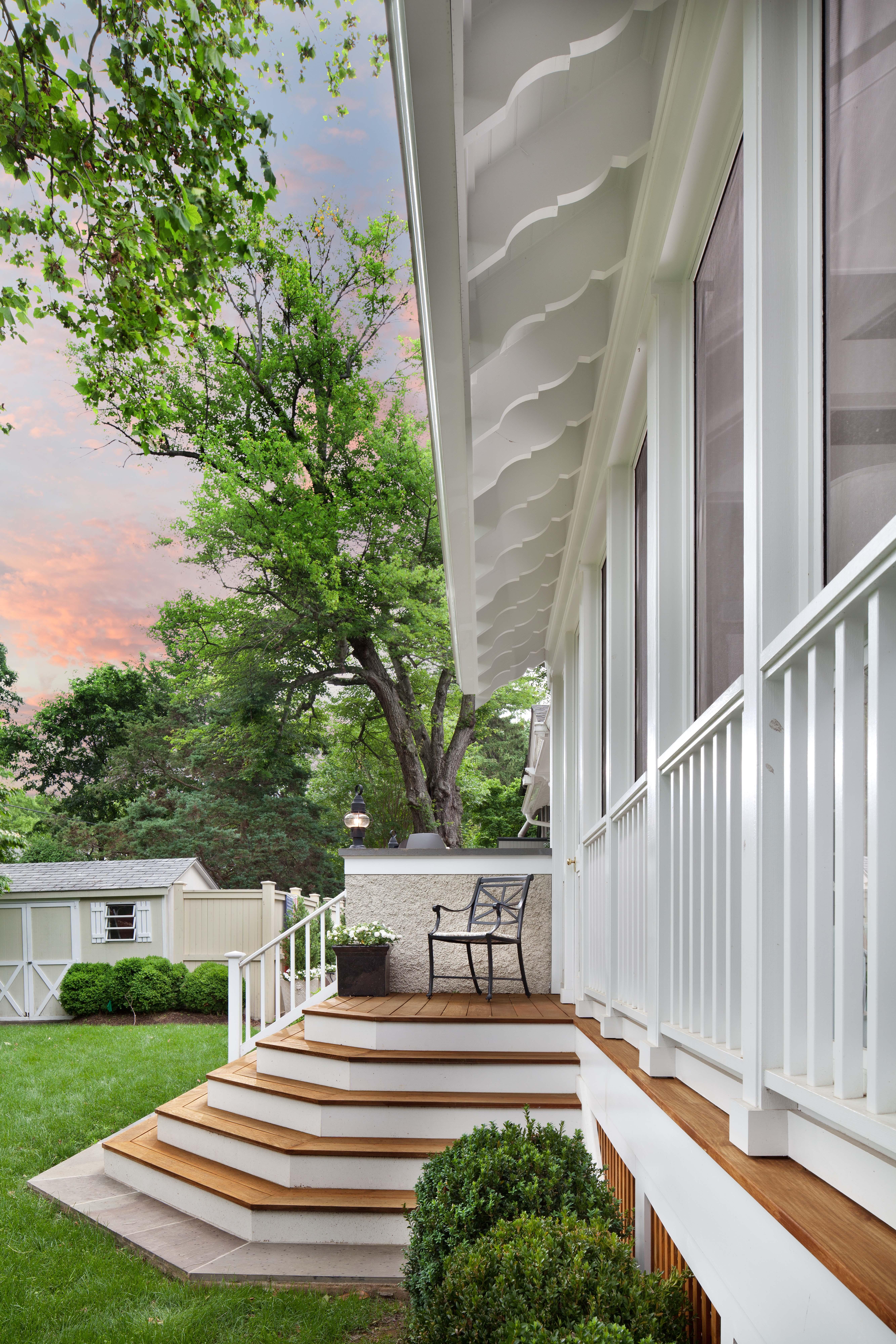 Porch exterior detail