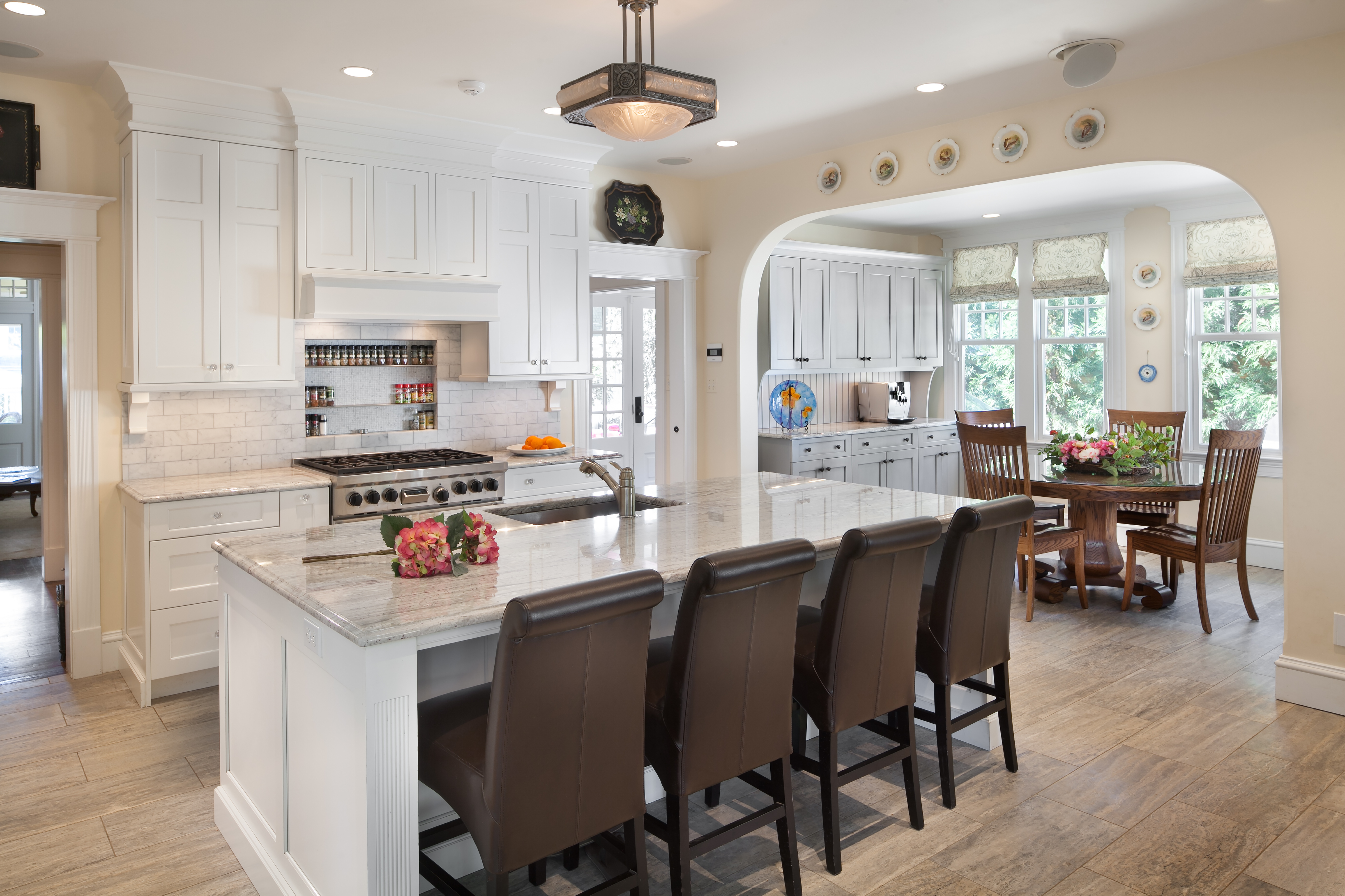 Angled View of Kitchen and Breakfast Nook