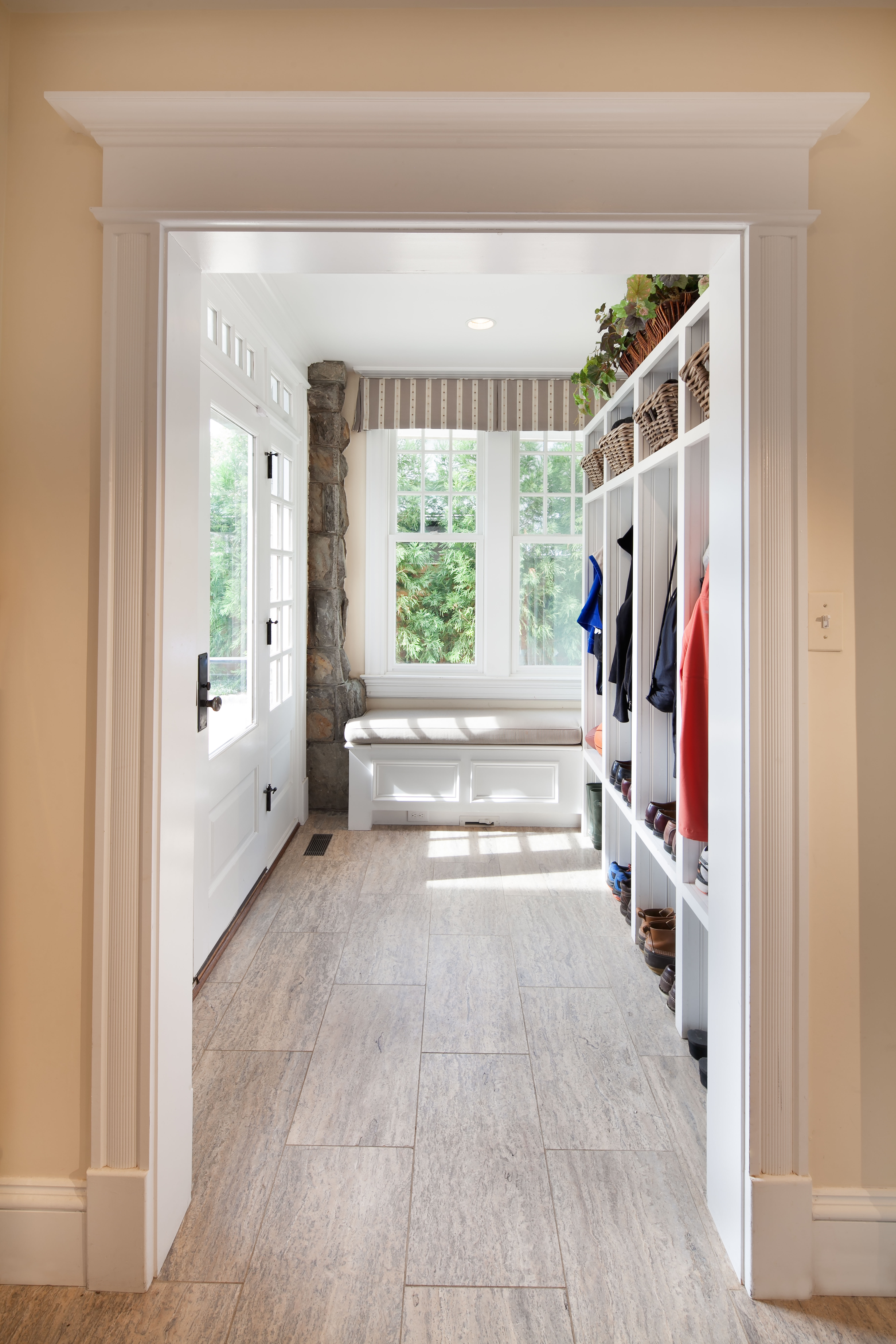 Hallway with Cubbies