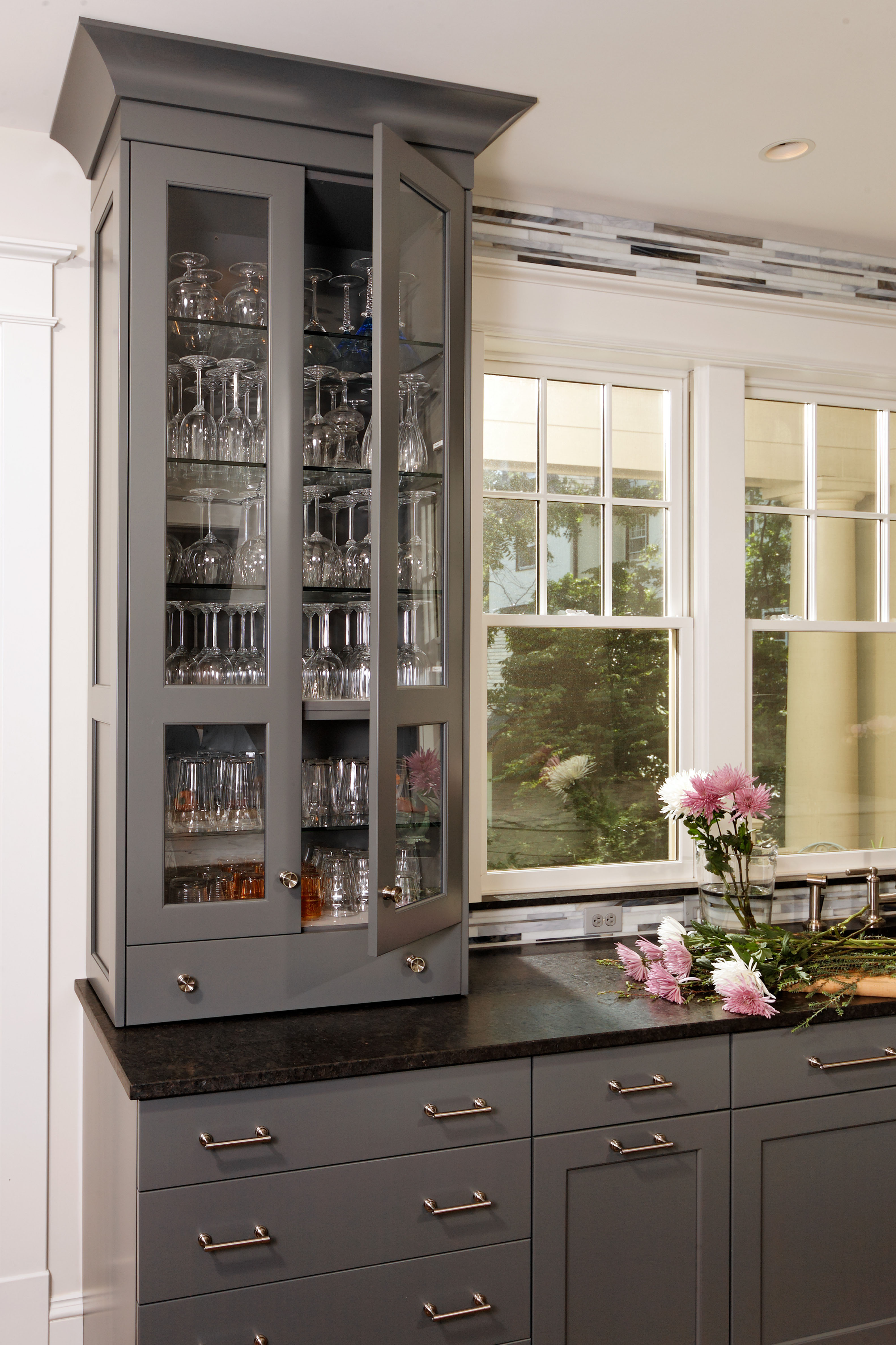 Cabinetry with Glass Doors