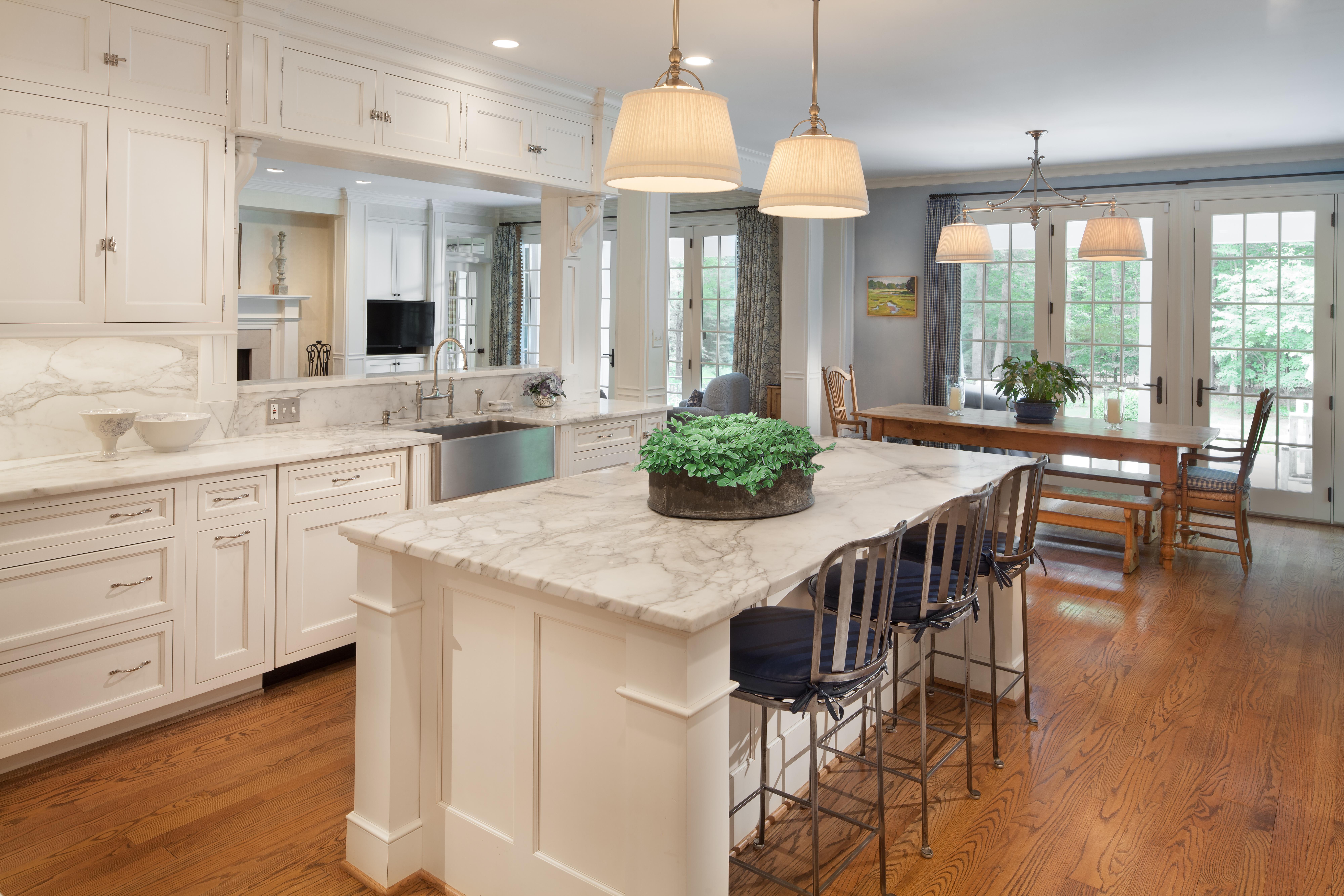 White Marble Kitchen, McLean VA