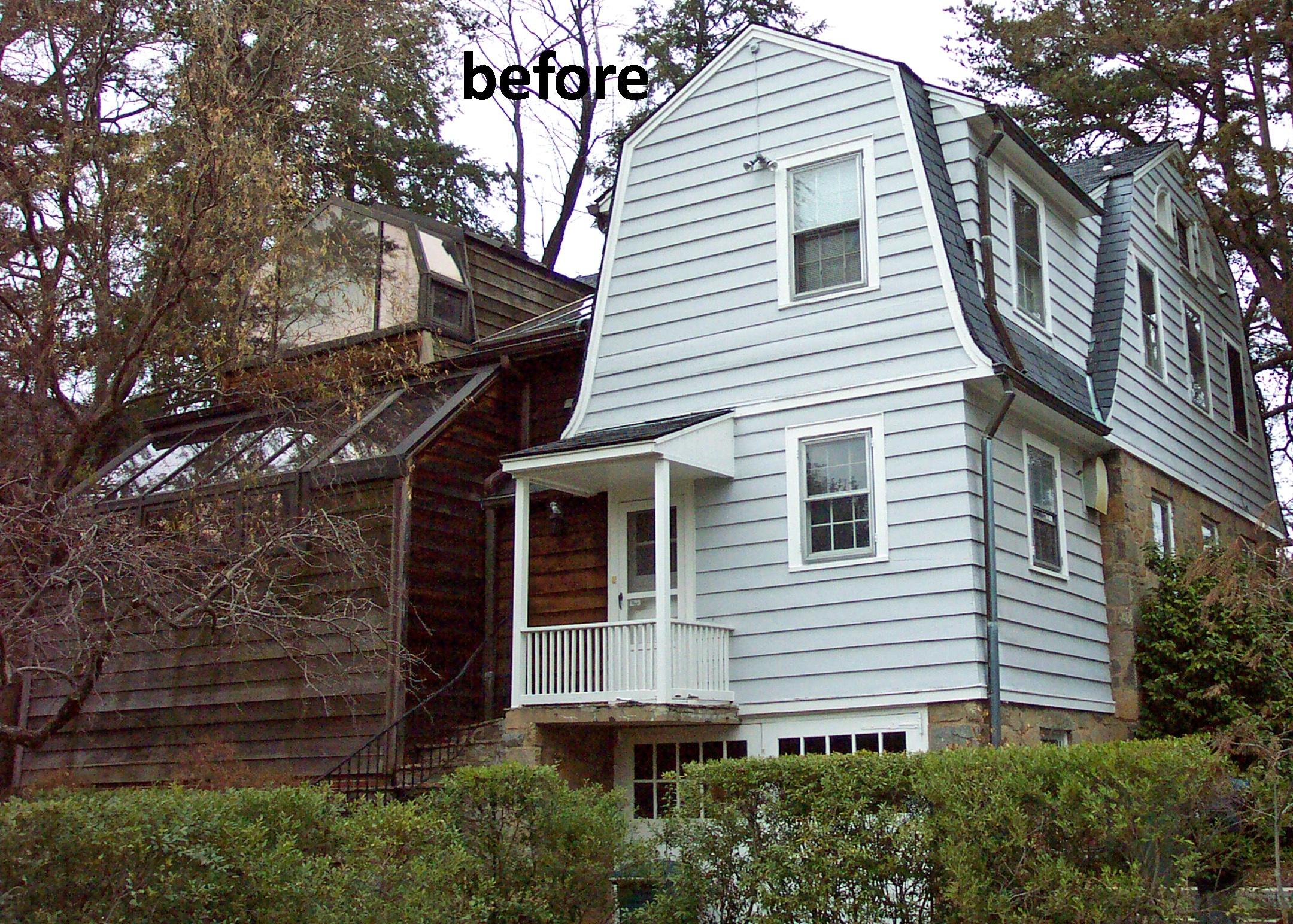 Porch Exterior Area Before