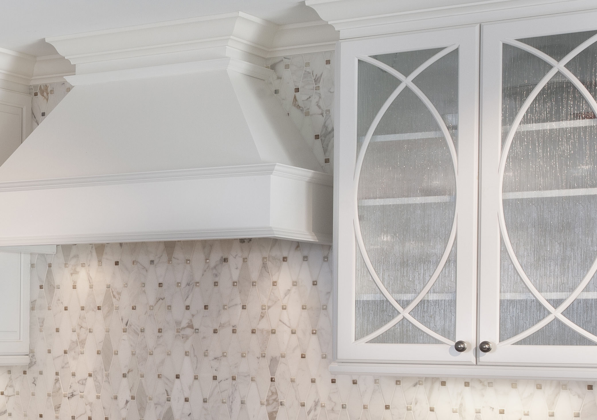 Oven Hood and Cabinetry Detail