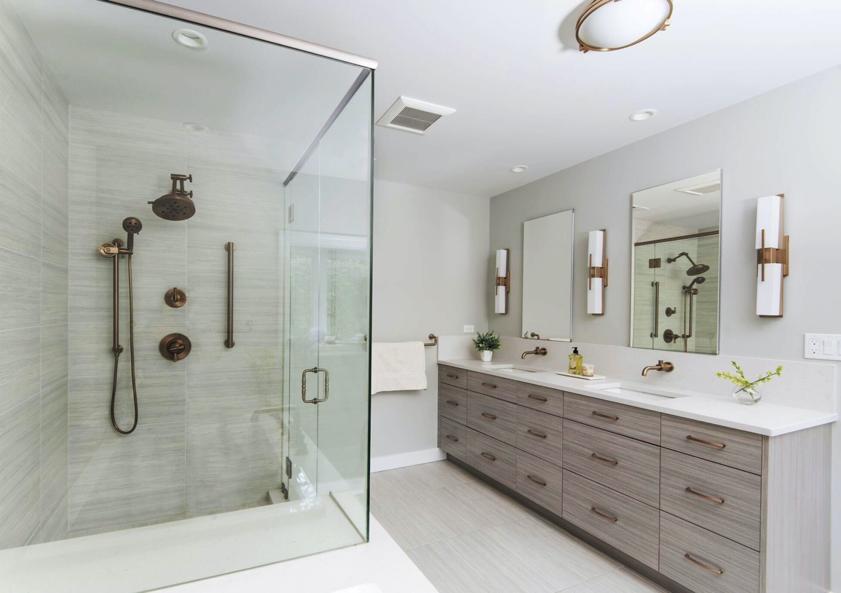 Shower and Vanity