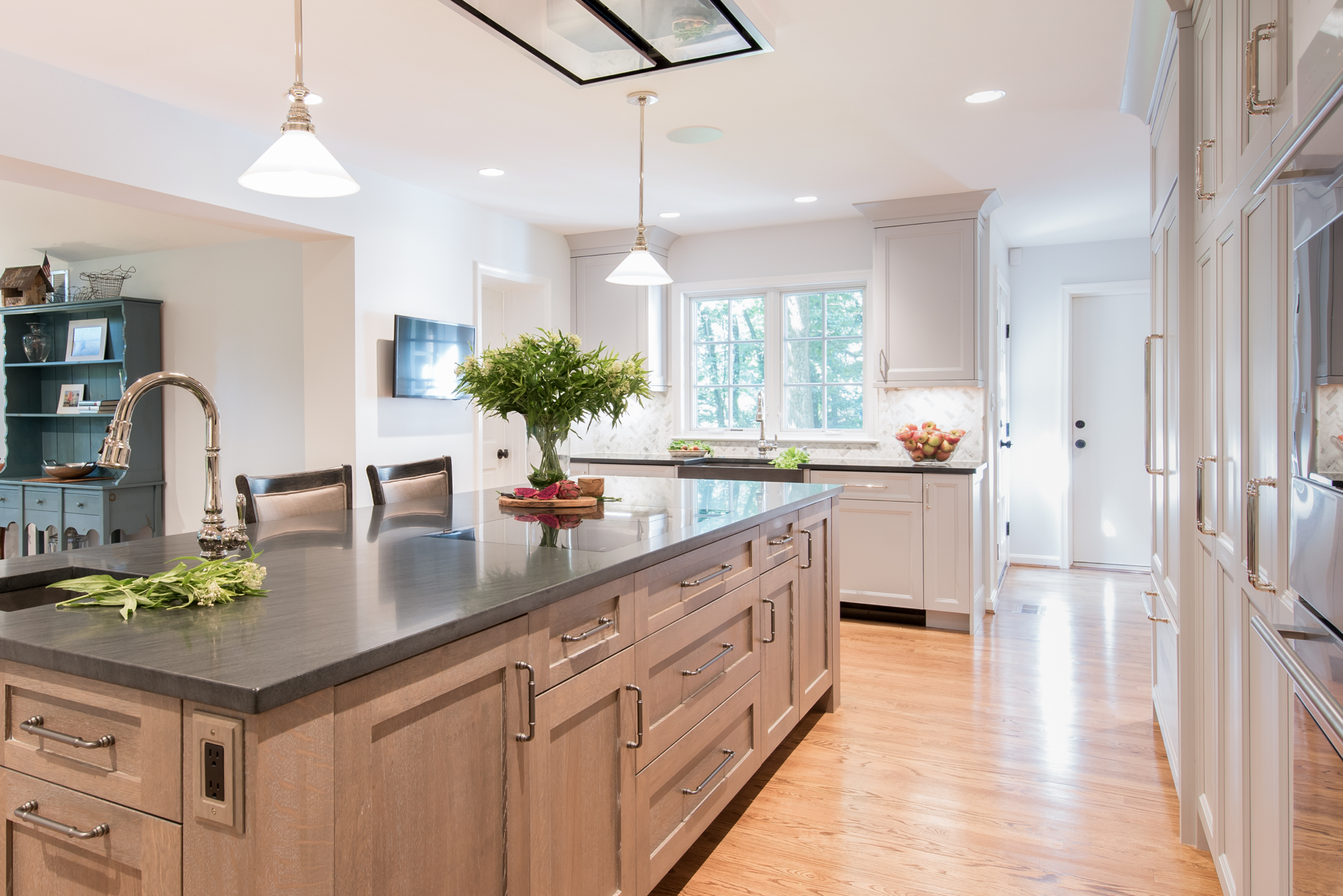 Angled View of Kitchen Island