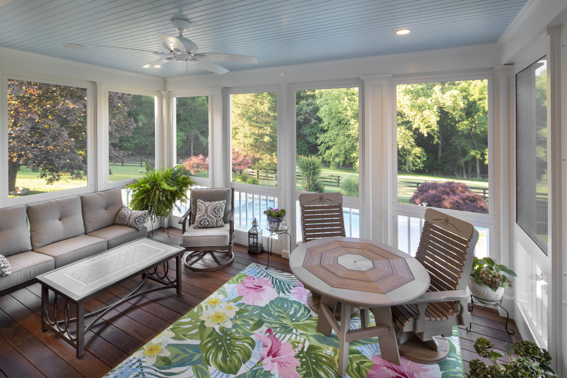 Scenic Overlook Porch Addition interior view