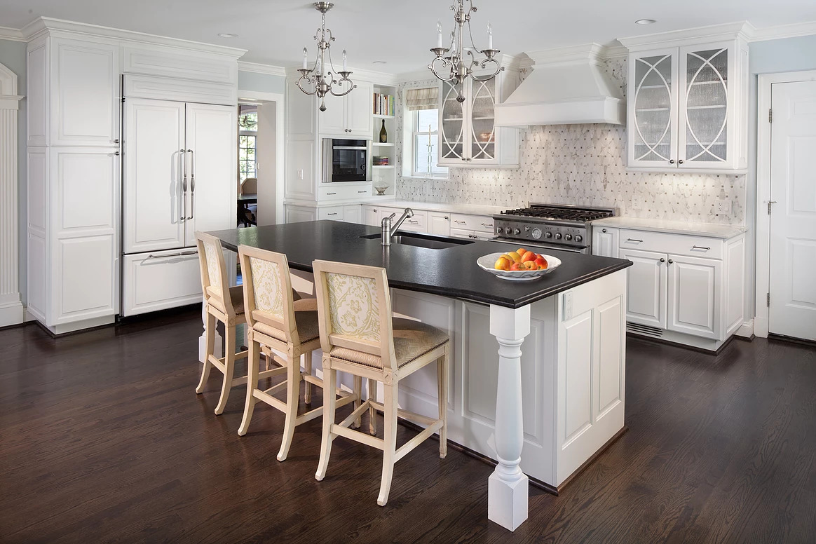 Light And White Kitchen In The Palisades, DC